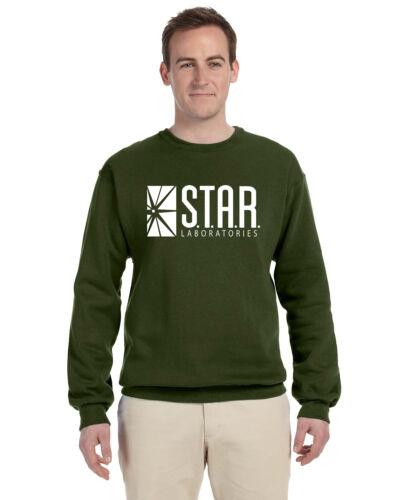 Star Labs Pullover Crew Neck Sweat Shirt The Flash STAR LABORATORIES Superman
