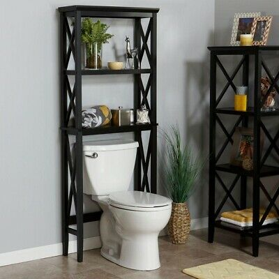Etagere Over Toilet Bathroom Shelf Storage Space Save Organizer Above Towel Rack Ebay