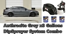 3 Gallons Anthracite Grey Performix Plasti Dip Dyc Dipsprayer Gun Bundle Kit