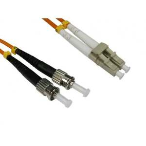 3m-long-OM2-FIBRE-OPTIQUE-CABLE-RESEAU-DE-BRASSAGE-LSZH-LC-VERS-ST-Multimode