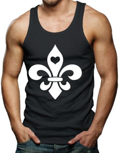Fleur De Lis with Heart Mardi Gras Orleans Party Beads Drink Tank T-Shirt