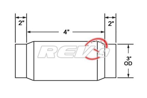 "REV9 3/"" X 4/"" X 8/"" MILD STEEL EXHAUST FLEX PIPE//turbo downpipe//header//manifold"