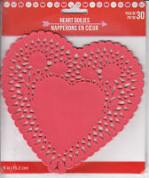 Valentine's Day Heart Paper Doilies Decorative Craft Party Favor Red 30 Ct