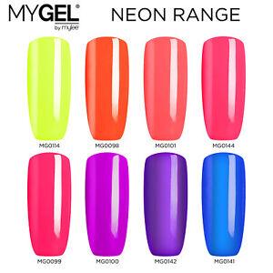 Mylee MYGEL Neon Collection UV LED Soak-Off Gel Nail Polish Colour Manicure 10ml
