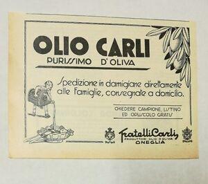 Pubblicita-epoca-1934-OLIO-CARLI-OIL-FOOD-ITALY-advertising-publicite-reklame