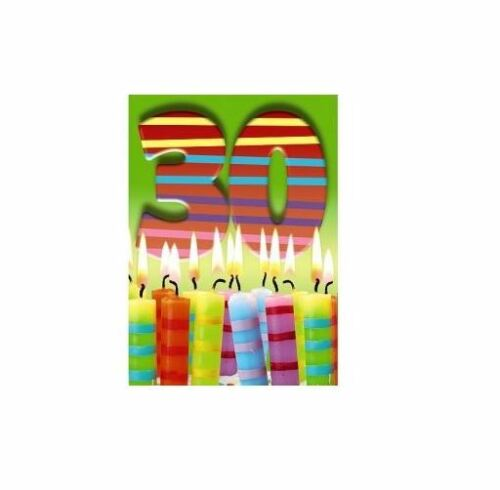 Happy 30th Birthday 3D Holographic Greetings Card