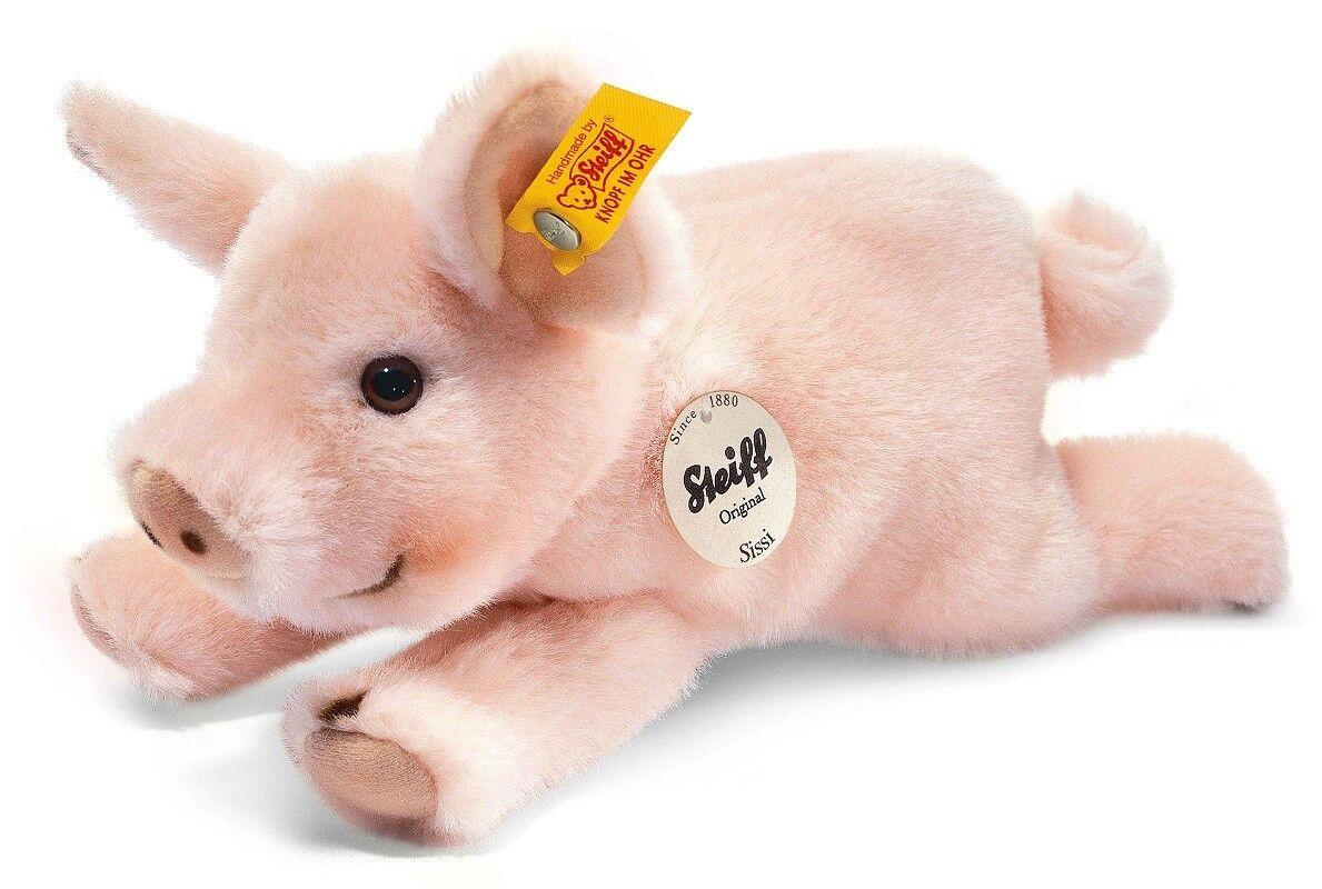 Steiff Sissi Ferkel   Pig Klassisch Plüsch Waschbar Plüschtier - 22cm - EAN