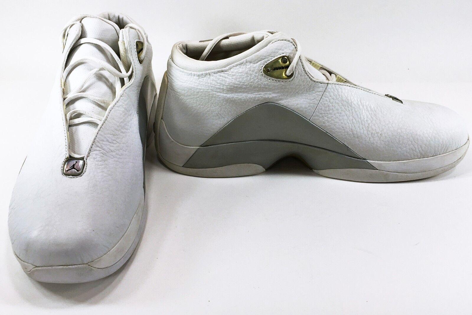 Nike schuhe air jordan - team jumpman fließen selten weiß / grau größe.