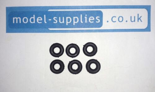 Corgi Negro recauchutados neumáticos de reproducción para coche Corgi 233 Heinkel Burbuja