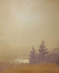 Lrg-24x20-Gold-Calm-Fog-Tonalism-Impressionism-Landscape-Art-Oil-Painting-Trees