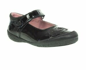 RRP-49-Hush-Puppies-Girls-SALLY-Black-Patent-Leather-Mary-Jane-School-Shoes