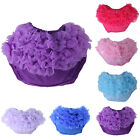 Kids Baby Girls Newborns Lace Ruffle Pants Shorts Bloomers Diaper Nappy Cover