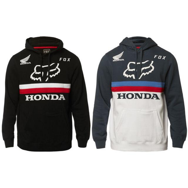 Fox Racing x Honda Mens Fox Honda Pullover Hoodie Black