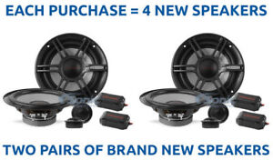 "(2) CRUNCH 300W 6.5"" Shallow Mount Component Car Stereo Speaker System 