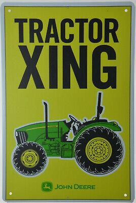 "JOHN DEERE TRACTORS FARM BARN GARAGE AGRICULTURE Retro Metal Tin Sign 8x12/"" NEW"