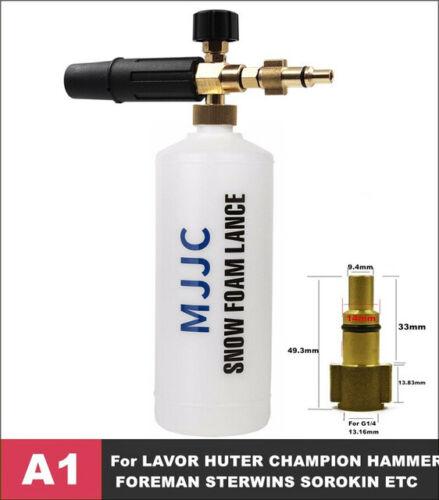 Snow Foam Lance Cannon Bottle Car Wash Foamer Sprayer High Pressure Washer 1L