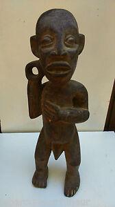 ancienne-Statue-034-Teke-034-Congo-Zaire-AFRIKANISCHE-KUNST-ART-TRIBAL-PREMIER