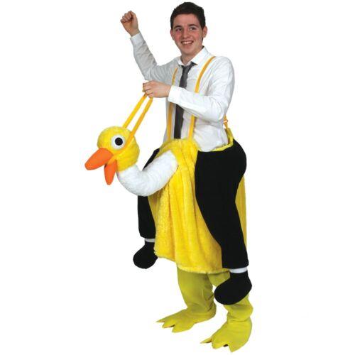Crazy Ostrich Animal Bird Novelty Comedy Adults Mens Fancy Dress Costume