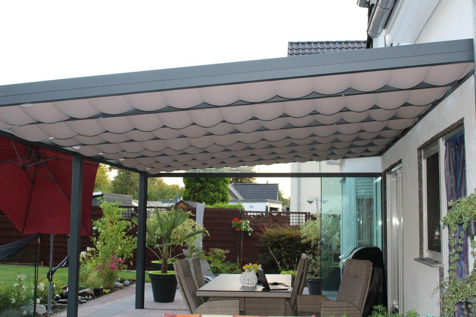 Unterglas Unterdach Beschattung Terrassenbeschattung Thermoschutz Maß Markise
