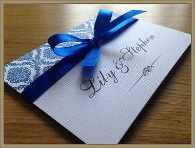 Personalised Wedding Invitations Day Evening Invites + Envelopes ---FINESION---