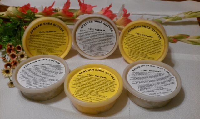 100% NATURAL RAW ORGANIC UNREFINED GRADE A AFRICAN SHEA BUTTER (1oz to 16oz)