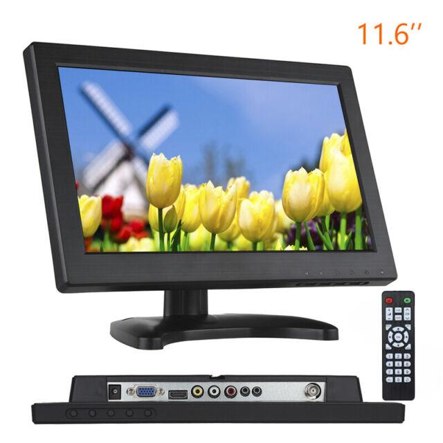 "11.6"" inch LCD 1366X768 Video Audio HDMI Monitor Remote Control for CCTV DVD PC"
