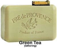 Pre de Provence Green Tea Soap, 250g wrapped bar. Imported from France. With shea butter and natural herbs and scents. (35160TV) Personal Care