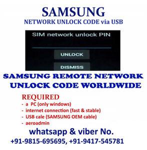 Détails : Samsung Galaxy Sol 2 SM-J326AZ SM-J327AZ Remote Unlock Code via  USB Cricket