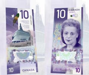 2018 CANADA $10 Bill ~ VIOLA DESMOND ~ IN STOCK ~ Canada's First Vertical Note