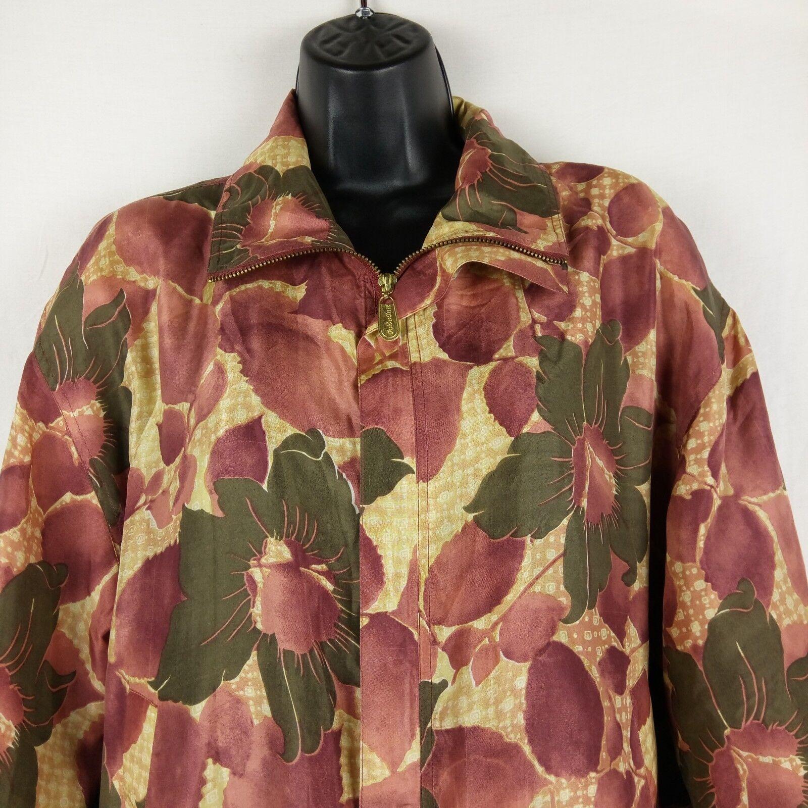 Fuda International Bomber Jacket Women Size M Pin… - image 2