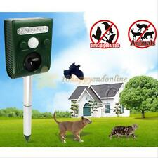 Ultrasonic Solar Powered Chaser Scarer Sonic Deterrent Repeller Animal Cat Dog