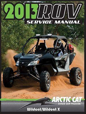 Wildcat Trail X repair shop service manual on CD 2014 Arctic Cat ...