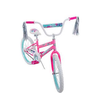 "20/"" Kids Girls Bike Beginner Starter Bicycle Ride Pink Little Princess Child New"