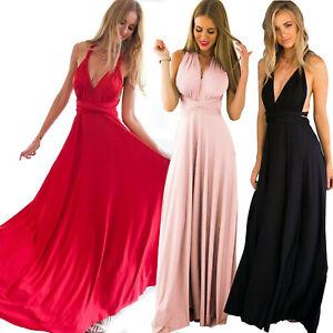 best cheap 22f09 d6c70 Dettagli su Abito donna lungo ULTIMA MODA vestito elegante e sexy nero rosa  rosso art D0743