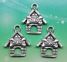 8pcs tibetan silver tone kids heart shaped charms EF1596