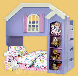 Details About Dollhouse Bunk Loft Twin Bed Woodworking Plans Instructions Do It Yourself