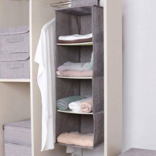 Cotton Closet Wardrobe Cabinet Organizer Hanging Pocket Drawer Clothes \\