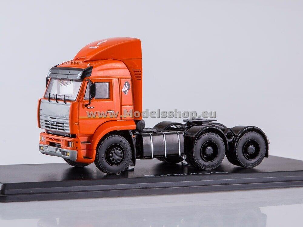 KAMAZ-6460 tractor truck with spoiler  orange