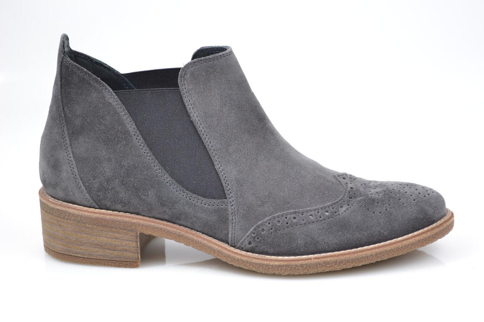Paul Grün Damen Stiefelette Chelsea Stiefel NEU Suede Earth grau Leder NEU Stiefel 71872b
