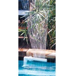 Swimming pool fountain spa waterfall adjustable water - Swimming pool water fountain kits ...