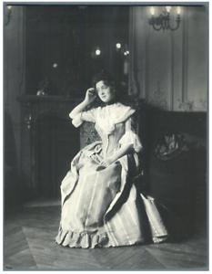 H-Blancard-France-Portrait-de-Melle-Rabuteau-dans-034-L-039-Ecossaise-034-Vintag