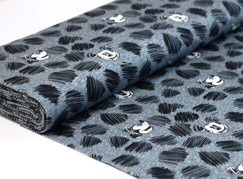 Jersey baumwolljersey tela suave mickey mouse scribble negro blanco EUR 20,00//m