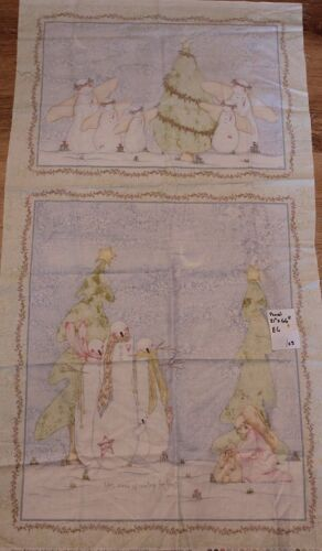 Christmas Fabric Panel Snowman Family Angels Quilting