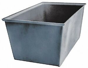"""Bayhead Products Gray Polyethylene Tote Container 23"""" Long x 15"""" Wide x 12"""" High"""