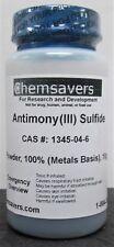 Antimonyiii Sulfide Powder Metals Basis 10g