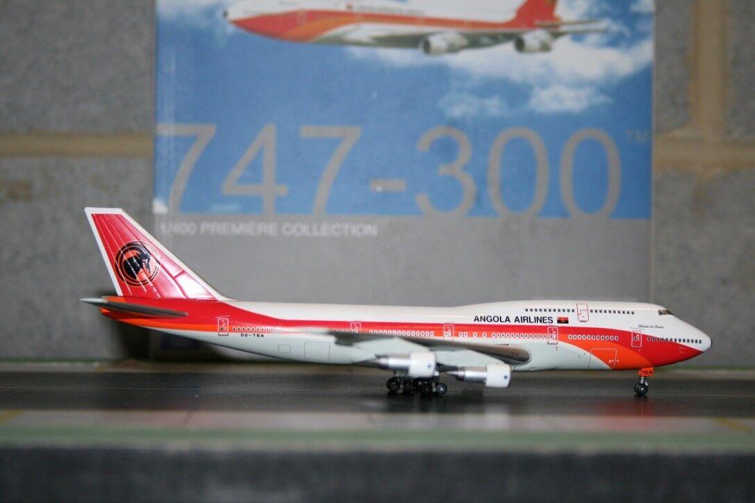 Alas de dragón 1 400 TAAG Angola Boeing 747-300 D2-TEA (55961) modelo de avión