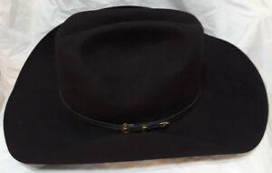 2095fec906856 Black Cowboy Hat Tuff Hedeman Signature Series Milano 6X Rustler II ...