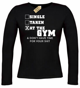 05a0971faf Womens Single Taken At Gym Funny Cute Workout Gym Tee Muscle T Shirt ...