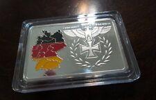 WWII WW2 German Deutsche Reichsbank Tri Color flag Medallion Token medal bar