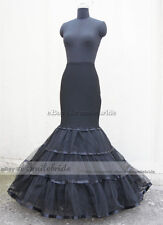Black Normal / Plus Size Mermaid Trumpet Style Wedding Gown Petticoat Crinoline